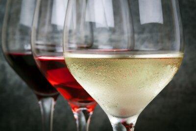 Plakat Biała Róża i czerwonego wina