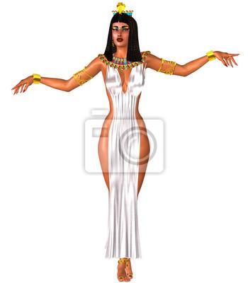 Biała sukienka, egipcjanka i złota korona. Plakaty Redro