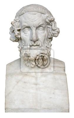 Plakat Białe marmurowe popiersie grecki poeta Homer