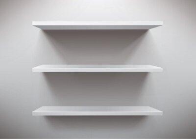 Plakat białe półki