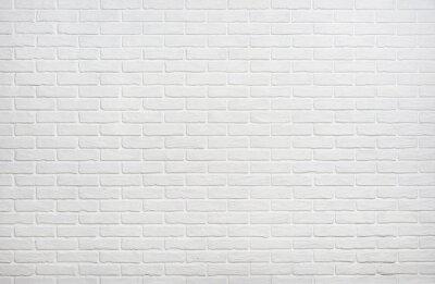 Plakat Białe tło cegła ściany zdjęcia