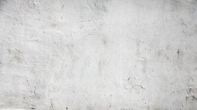 Plakat Biały beton tekstury tle ściany z gipsu