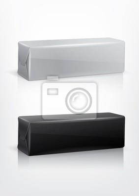 Plakat Biały i czarny pakiet ciasteczko dla nowego projektu