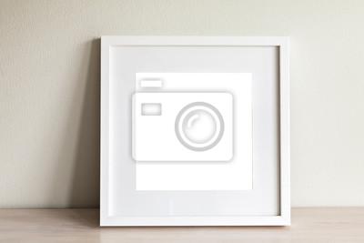 Plakat Biały kwadrat ramka makieta