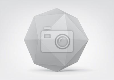 Plakat Biały polyhedron do projektowania graficznego