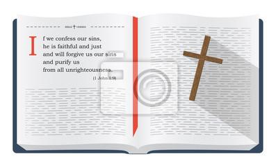 Biblia Przytacza O Wyznając Nasze Grzechy I Boże Przebaczenie Plakaty Redro