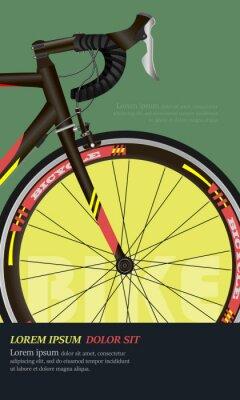 Plakat Bicycle poster. Race road bike. Realistic