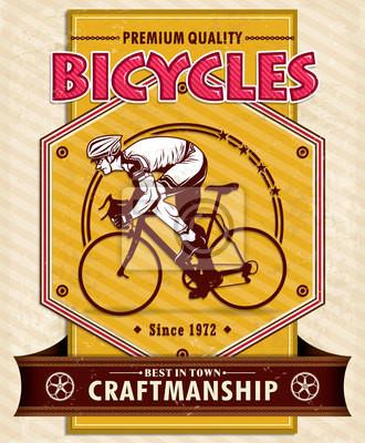 Bicycle projekt plakatu w stylu vintage