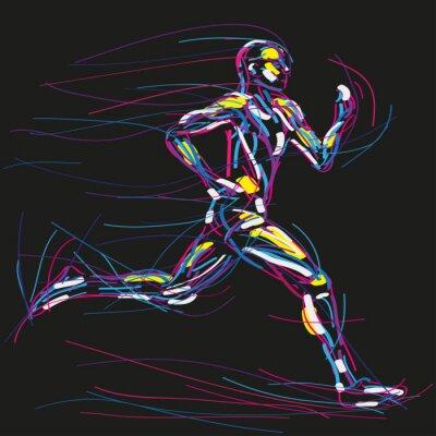 Plakat biegacz Rysunek WEKTOR