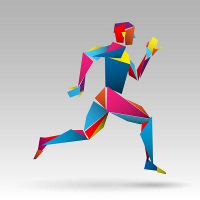 Plakat biegacz wektor