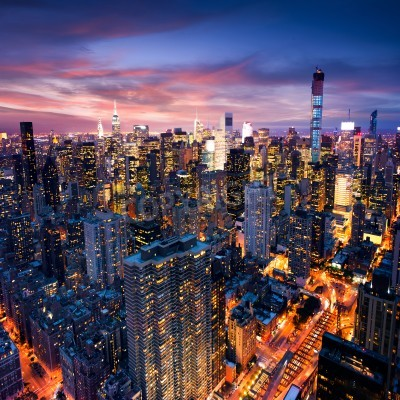 Plakat Big Apple after sunset - new york manhattan at night