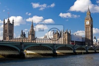 Plakat Big Ben i Houses of Parliament w Londynie
