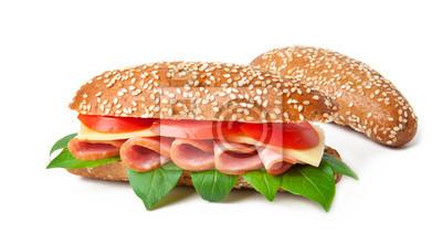 Big kanapka na białym tle