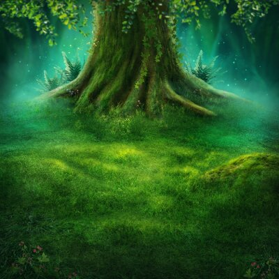 Plakat Big tree in the magic forest