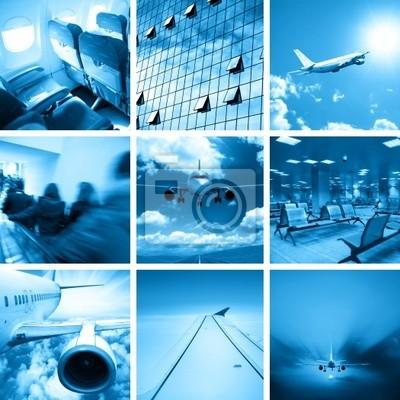 Plakat Biznes airport collage