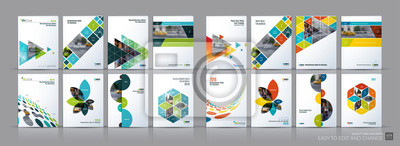 Plakat Biznes wektor mega zestaw. Broszura układ szablonu, projekt okładki