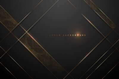 Plakat black and gold abstract background