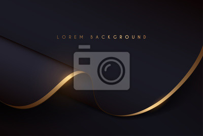 Plakat black and gold cloth background
