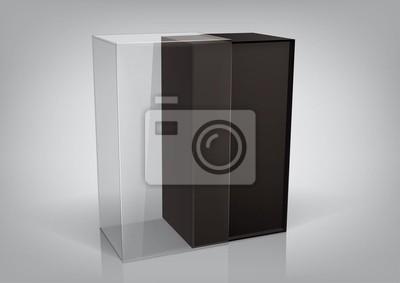 Black box opakowanie z przezroczystym okienkiem plastikowym