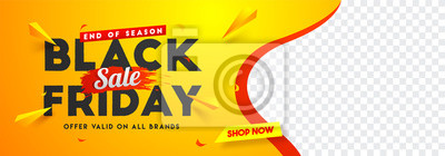 Plakat Black Friday sale website banner design with space for your product image.