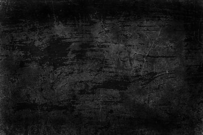 Plakat black old wall cracked concrete background / abstract black texture, vintage old background