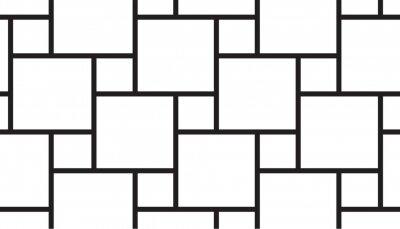 Plakat Black square grid pattern vector