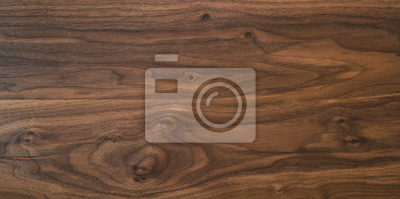 Plakat Black walnut wood texture from two boards oil finished