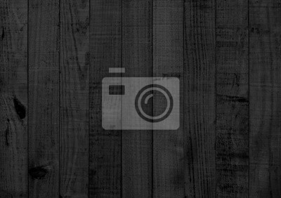 Plakat Black wood texture background coming from natural tree. Wooden panel with beautiful patterns. Space for work