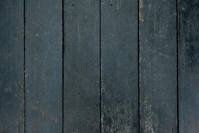 Plakat Black wooden wall