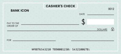 Plakat blank bank check. checkbook vector template. illustration