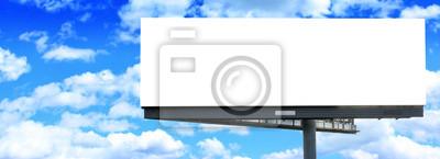 Plakat Blank billboard z błękitnego nieba