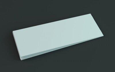 Plakat Blank brochure, magazine, booklet mockup isolated on dark background. 3D rendering