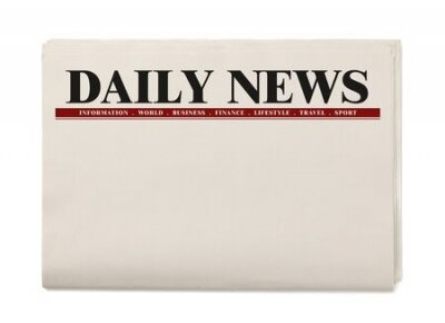 Plakat Blank Daily Newspaper isolated on white background, Daily Newspaper mock-up concept