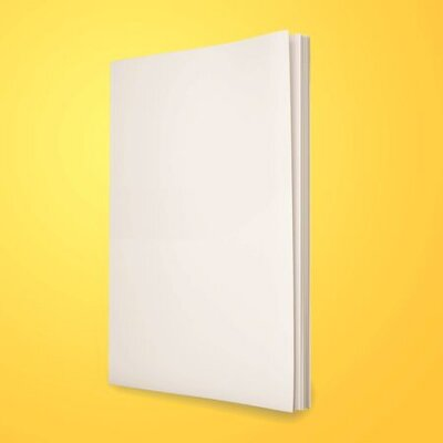 Plakat Blank magazines on yellow background