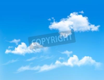 Plakat Błękitne niebo z chmurami. tło wektor
