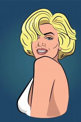 Plakat Blonde, beautiful, woman,  smile