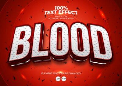 Plakat Blood Editable Text Effect