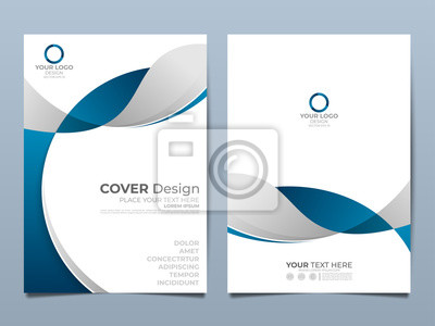 Plakat Blue corporate identity cover business vector design, Flyer brochure advertising abstract background, Leaflet Modern poster magazine layout template, Annual report for presentation.