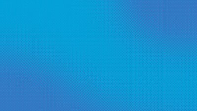 Plakat Blue retro comic pop art background with halftone dots design, vector illustration template