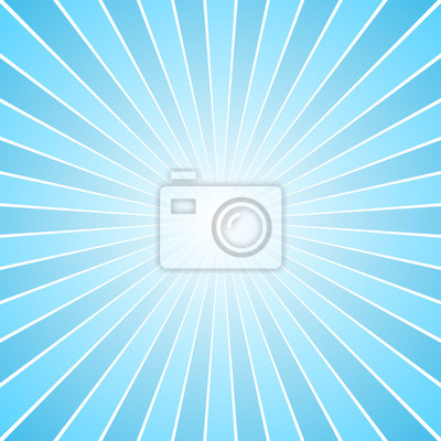 Plakat Blue retro ray burst background - gradient grafiki wektorowej z promienistymi paskami