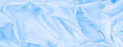 Plakat Blue silky fabric texture