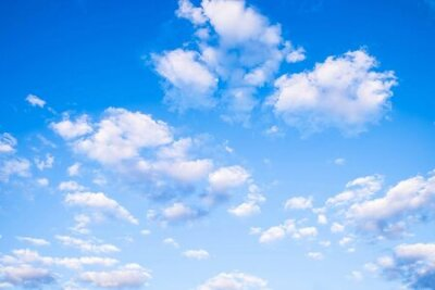 Plakat Blue sky and beautiful clouds