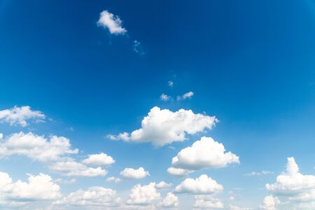 Plakat blue sky and clouds background