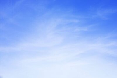 Plakat Blue sky background and white clouds soft focus, and copy space.
