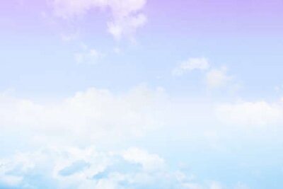 Plakat Blue sky white cloud white background. Beautiful sky and clouds in the afternoon.