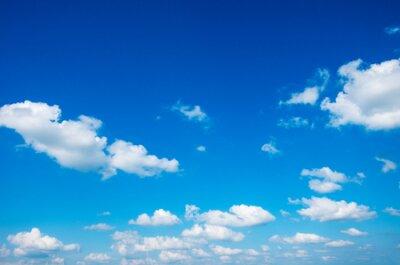 Plakat blue sky with cloud