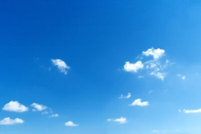 Plakat Blue sky with white clouds. Blank copy space add text