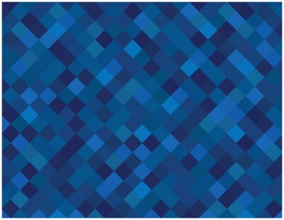 Plakat Blue squares vector background.Abstract vector mosaic tioles background.
