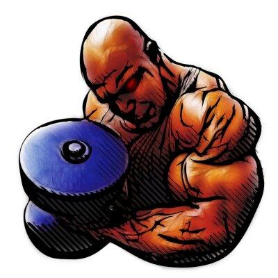 Plakat bodybuilder illustration
