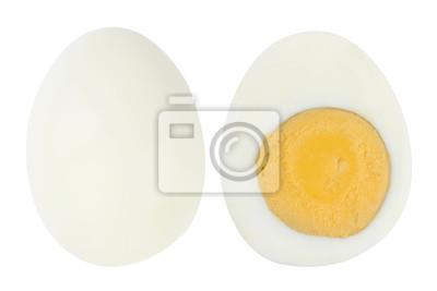 Plakat boiled egg on white